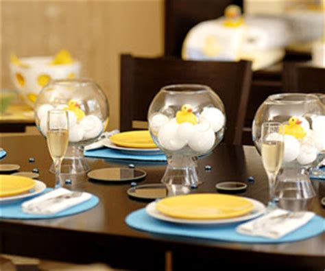 fish bowl baby shower centerpieces personally you bubbly ducky baby shower