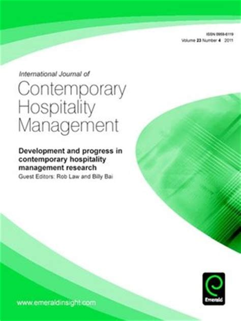 Hospitality Management 4 international journal of contemporary hospitality