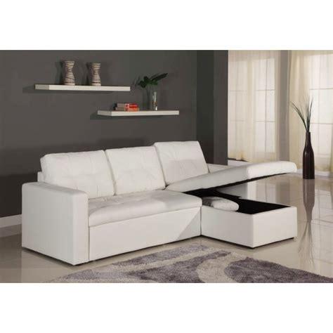 canape simili cuir blanc canap 233 d angle lit convertible girly blanc en simili cuir