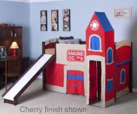 firehouse furniture firehouse low loft bed 4060 boys playhouse beds ne