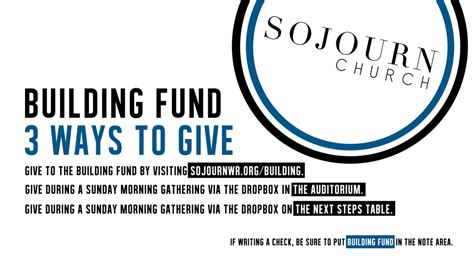 Donation Letter For Building Fund Building Giving Sojourn Church