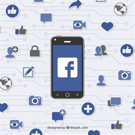 facebook layout vector free download mobile background with facebook icons vector free download