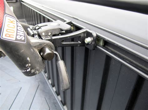 truck bed bike mount rockymounts driveshaft sd truck bed rail bike carrier thru axle and standard fork