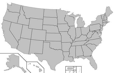 large blank us map blank u s map with states