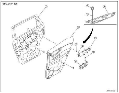 2008 infiniti qx56 interior door panel handle service manual door panel removal 2004 nissan quest
