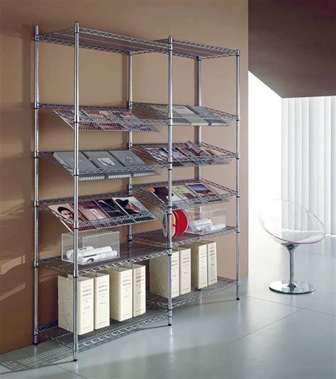 scaffali cromati componibili scaffali indoor archimede componibili in acciaio cromato