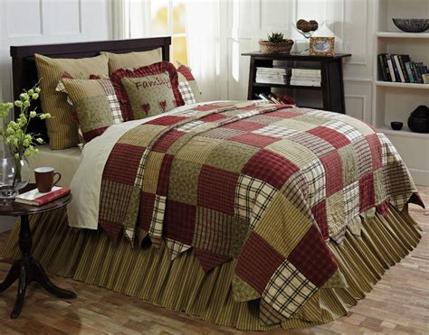 primitive 6pc heartland bedding set by vhc brands quilt