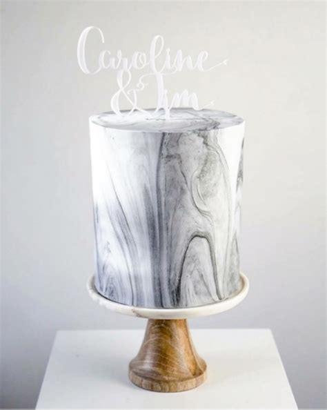 Chic And Luxurious Marble Wedding Cakes Weddingomania
