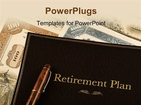 retirement templates for powerpoint powerpoint template retirement plan portfolio on top of