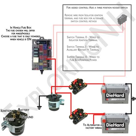 simple dual battery wiring diagram and parts list diy