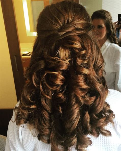 formal hairstyles half up half down curls gorgeous half up half down with big curls prom