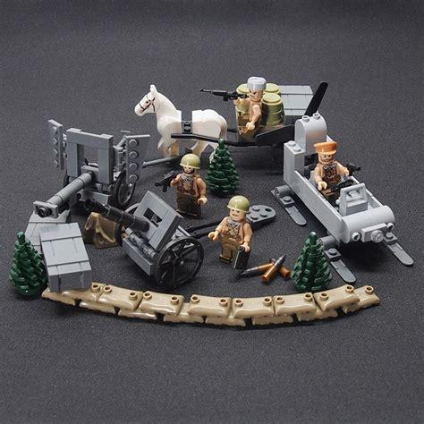 Mainan Bricks Army Ww Ii Set By Doll ww2 battle of moscow weapon gun soldier set army building brick toys sets
