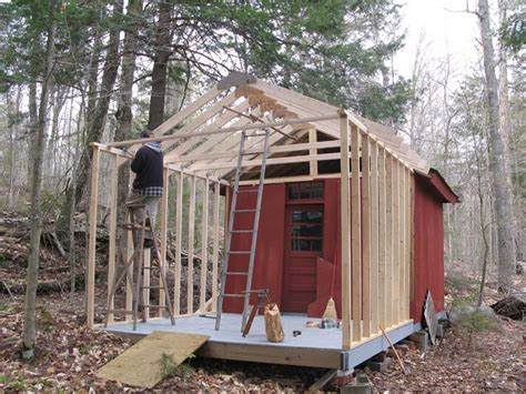 Shed Construction by Move To Raquette Lake 2008