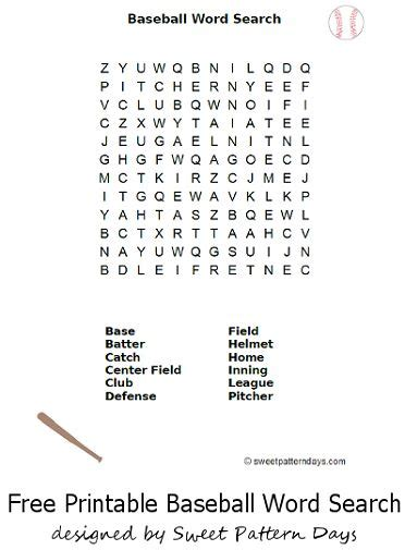 printable word search baseball kid for kids and search on pinterest