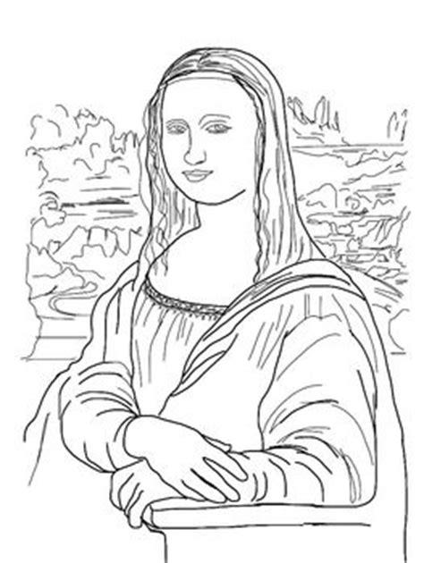 Coloring Pages Mona Lisa Japanese Bridge Sleeping Mona Coloring Page