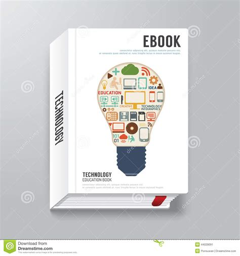 Book Cover Digital Design Minimal Style Template Can Be Used F Stock Vector Image 44029091 Electronic Magazine Template