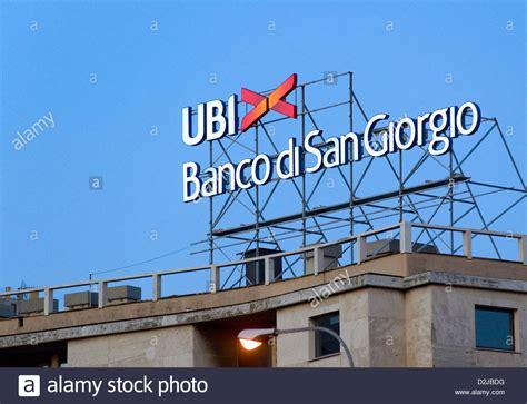 ubi san giorgio genoa italy with lettering logo of ubi banco di san