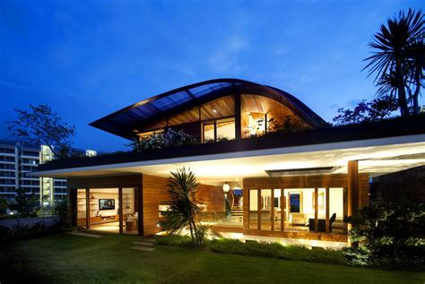 modern house front view design night front view of contemporary house design ideas with roof garden home building
