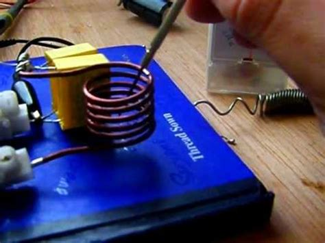 induction heater follow up spiral coil current tests induction heater construction operation