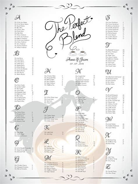 bridal shower seating chart template diy printable wedding or bridal shower single seating