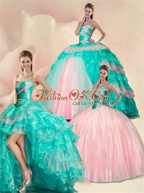 Sweet Colour Dress new style beading and ruffles multi color sweet 15