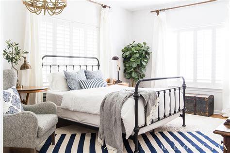 blue and white bedroom blue and white bedroom ideas for summer maison de pax 14613 | summer blue and white stripe master bedroom decor 8