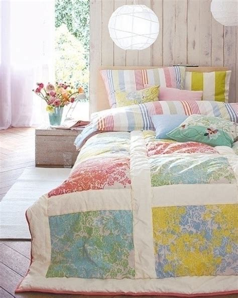 pastel bedding chic and charming bedroom with pastel colour