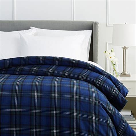queen flannel duvet cover pinzon plaid flannel duvet cover blackwatch plaid new ebay