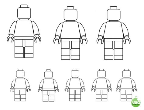 lego people template draw your family printable