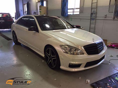 mercedes pearl white pearl white mercedes s65 vehicle customization shop