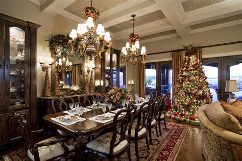 Startling Christmas Dining Table Centerpiece Decorating Ideas Gallery in Dining Room Traditional