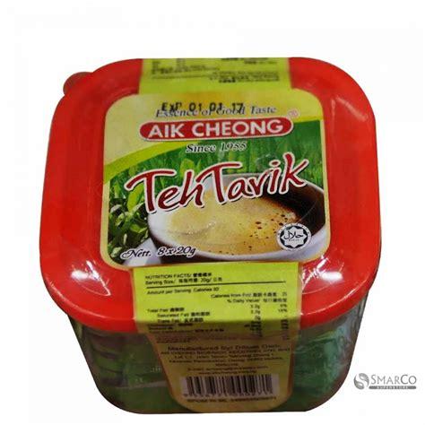 Teh Tarik Aik Cheong detil produk aik cheong teh tarik 8 x 20 gr 9556771000271 superstore the smart choice