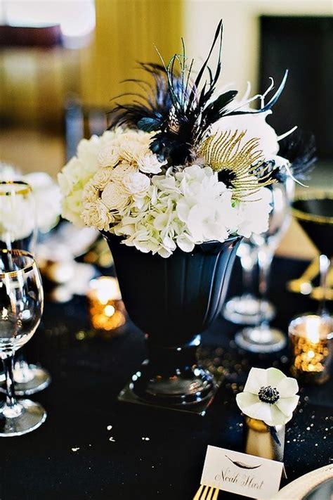 black white and gold centerpieces for wedding 80 adorable black and gold wedding ideas happywedd