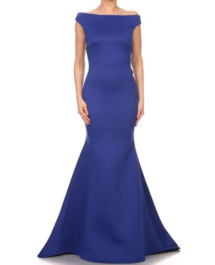 boat neck dress formal royal blue mermaid evening dress black evening dress