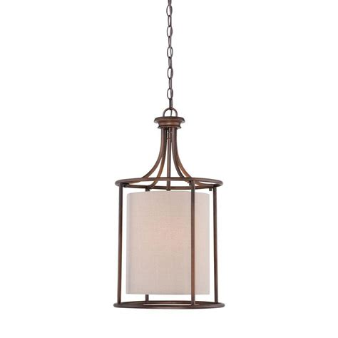 Candle Pendant Lighting Millennium Lighting 2 Light Rubbed Bronze Candle Pendant With Beige Linen Shade 3142 Rbz The