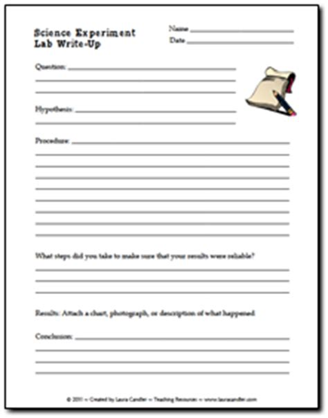 lab write up template science teaching resources