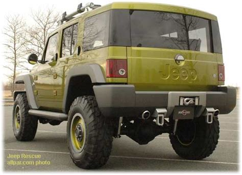 jeep rescue 2004 jeep rescue concept car based on the dodge ram