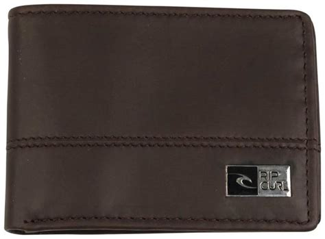 Ripcurl Leather Brown rip curl ripperblock all day leather wallet brown for