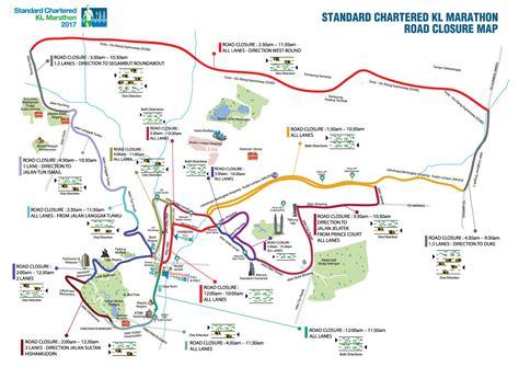 road closures map 34 road closures set for sc kl marathon on may 21