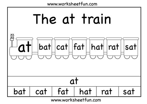 at word family printable worksheets word families
