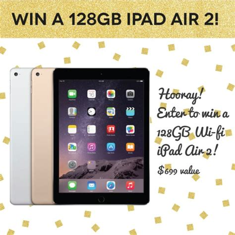 Ipad Giveaway 2016 - giveaway 128gb ipad air 2 stylish life for moms