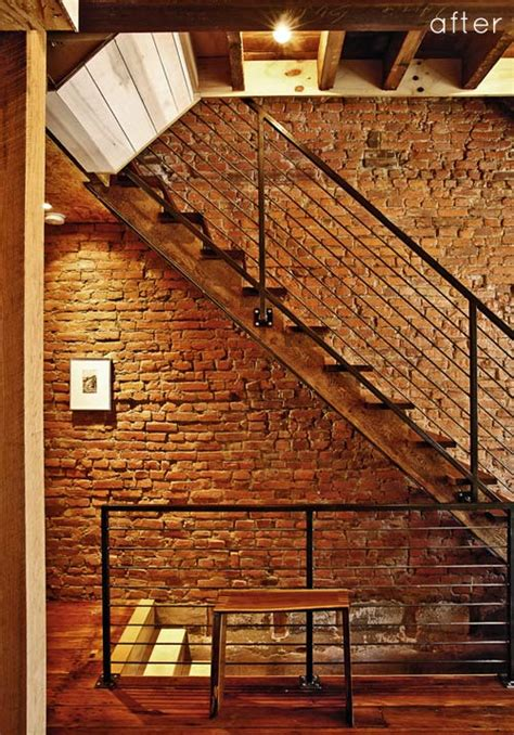 Brick Stairs Design Before After Salvaged Home Renovation Design Sponge