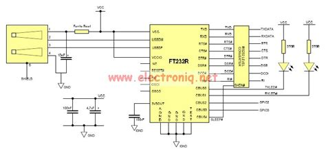 usb to serial rs232 adapter schematic circuit