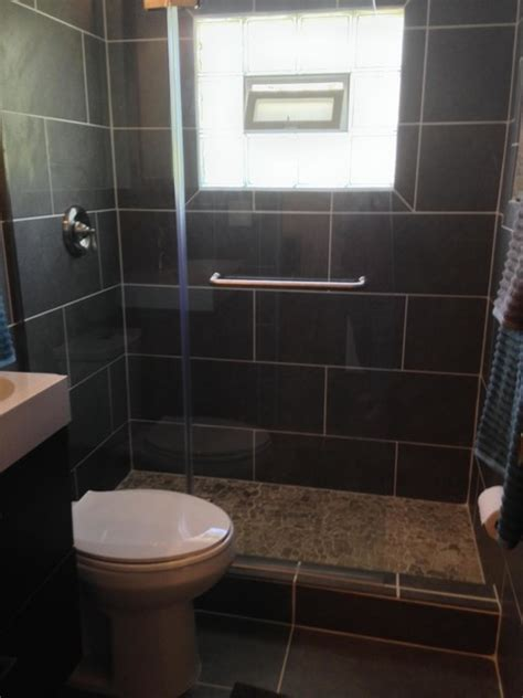 replace bath with shower remove tub and replace with a walk in shower after contemporary bathroom other metro