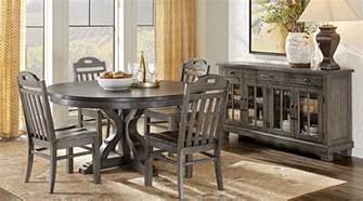 westbrook gray 5 pc round dining room dining room sets
