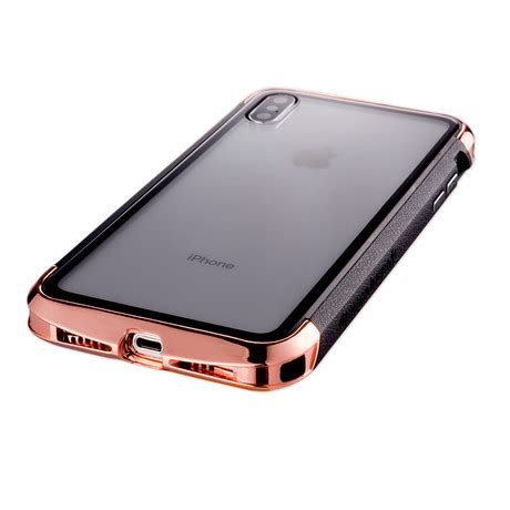 aero hybrid metal abs bumper case polished gold