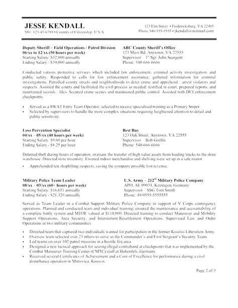 unique usa federal resume template federal resume