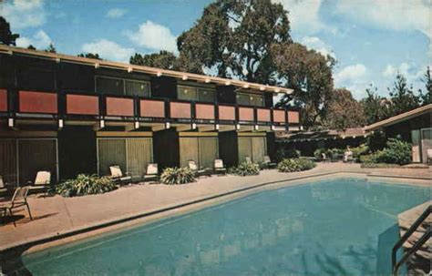 red cottage motel menlo park ca postcard