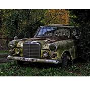 Abandoned Old Rusty Car On Mazda Furai Background Desktop
