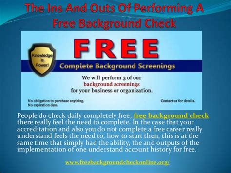completely free background checks the ins and outs of performing a free background check